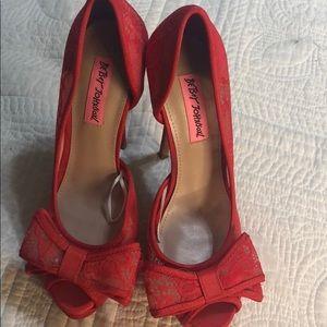 Red betsey Johnson heels
